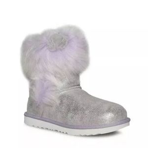 UGG MAIZEY CLASSIC II SILVER/LAVENDER LEATHER BOOT